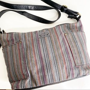 Pistil crossbody bag purse boho tribal print grey